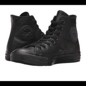 GENUINE LEATHER CONVERSE HIGH-TOPS